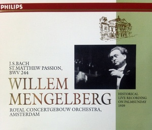 [중고] Willem Mengelberg / Bach: St. Matthew Passion, BWV244 (3CD/dp3560/41620792)