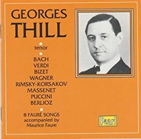 [중고] Georges Thill / German, Italian, Russian and French Opera and Song (수입/gemmcd9947)